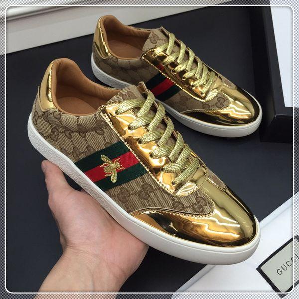 2019 роскошная дизайнерская обувь Марка Модный дизайнер Женская обувь Золото с низ