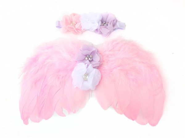 Newborn Photography Accessories Angel Wings Baby Photo Props Handmade Costumes For Infants Fotografia Crochet Costumes For Baby