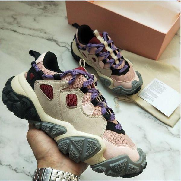 Acne Studios Bolzter W diseñador de moda los zapatos de los zapatos ocasionales de calzado de lujo papá calzado deportivo womenTechnical las zapatillas de deporte del zapato mejor calidad nm01