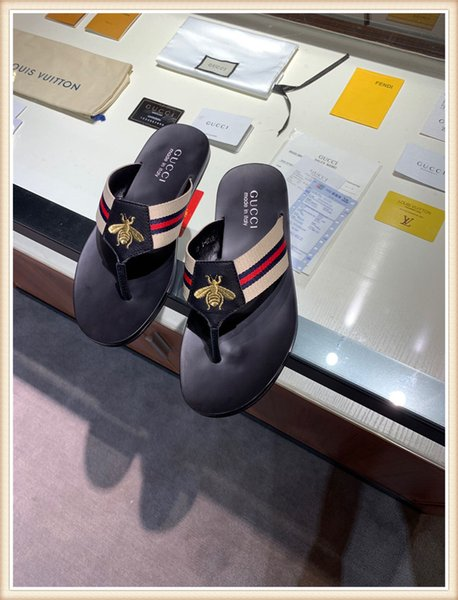 brand 2019 new slippers out andals men slides outdoor Luxury slippers indoor slip on flip flops