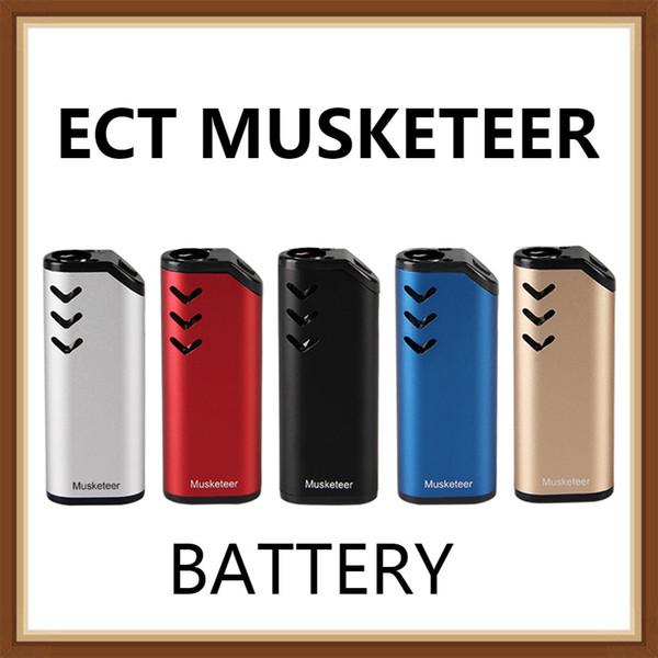 100% Authentic ECT Musketeer Host Thick Oil Cartridge Vaporizer Kit 650mAh preheating Battery Vape Pen 510 Thread Atomizer Starter vapor