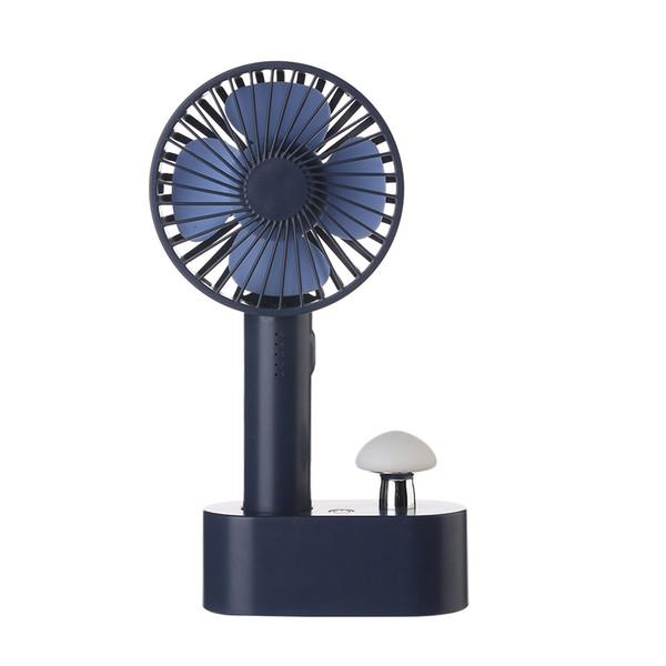 Ventilador de mesa de design criativo com 18650 recarregável KC / PSE bateria portátil ventilador com cogumelo nightlight acessível mini ventilador