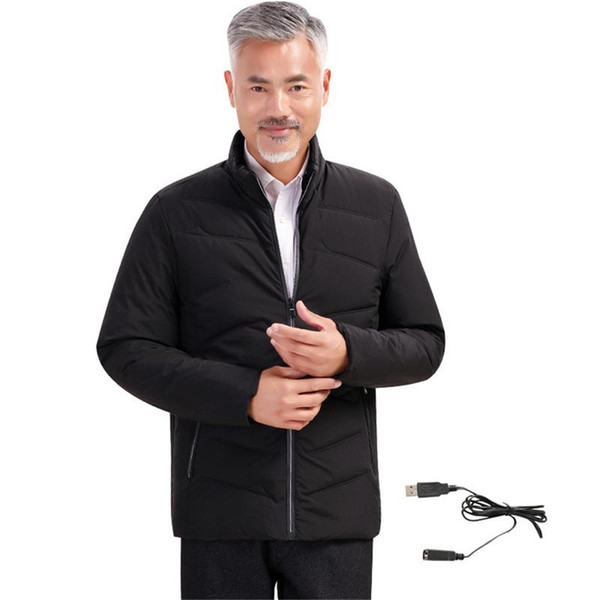 Cotton Coat for Men Dad Electric Heating Clothes USB Smart Heating Thermal Jacket Warm Body Clothes Long-sleeved Jacket