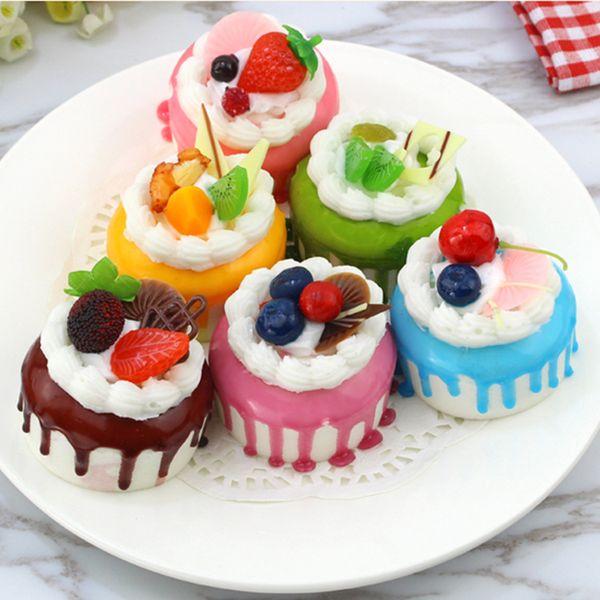 top popular Fake Cake Cupcake Simulation Artificial Food Cake Sprinkle Kitchen Toy Decoration Display Props (Circular) 2021