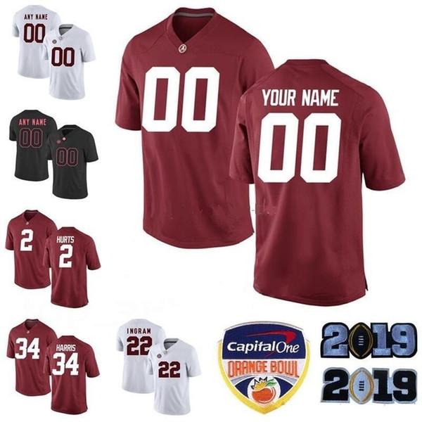 Personalizado Alabama Crimson Tide jerseys QUALQUER NOME DO NOME dos homens personalizados das crianças da juventude costume personalizado feito de Futebol Da Faculdade uniforme