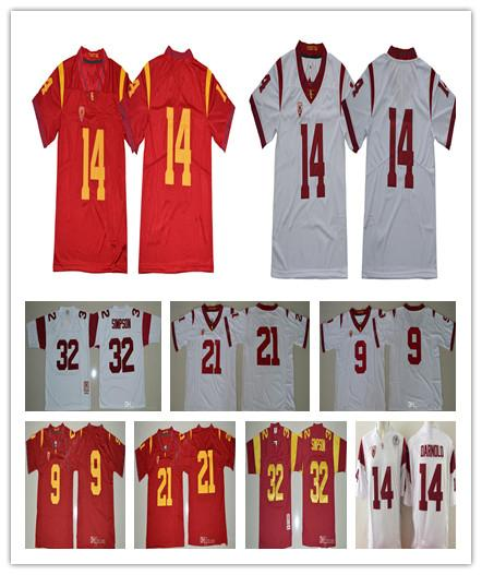 best sneakers 05ba0 cc1d5 2019 USC Trojans 9 JuJu Smith Schuster 14 Sam Darnold Jersey Men College  Football 21 Adoree Jackson 32 OJ Simpson Stitched Red White Size S XXXL  From ...