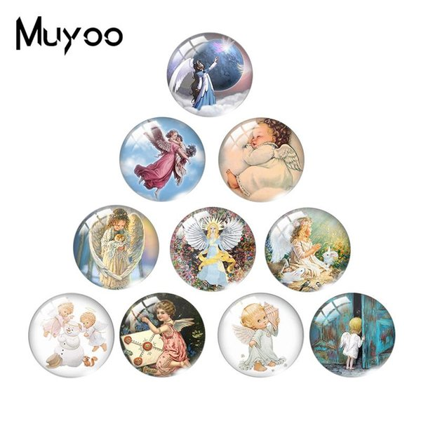 2019 New Angel Class Cabochon Little Fairy Class Dome Cabochons Round Hand Craft Lovely Angels Jewelry