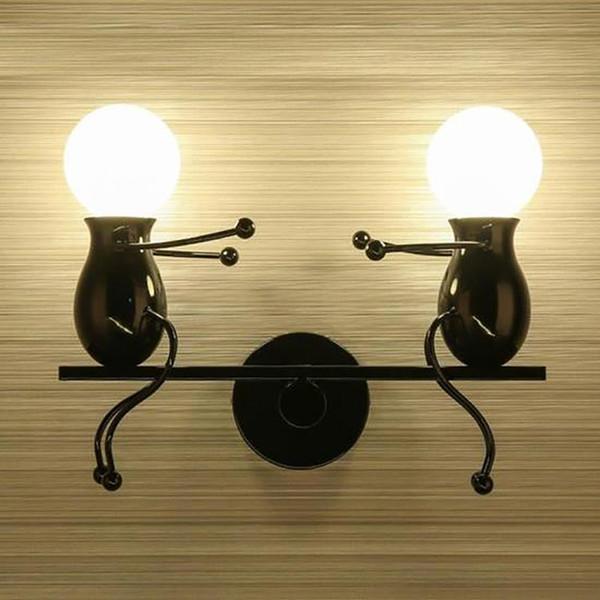 Modern Charming Chandelier Creative Iron People Lamp Elegant Wall Lights Hanger 2019 New Arrival Hot Sale