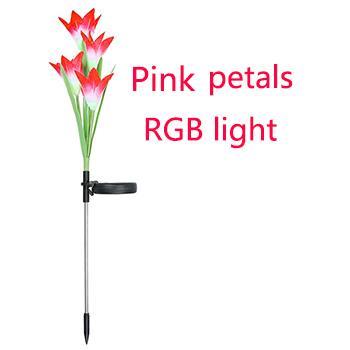 Rosa Blüten mit RGB-Licht