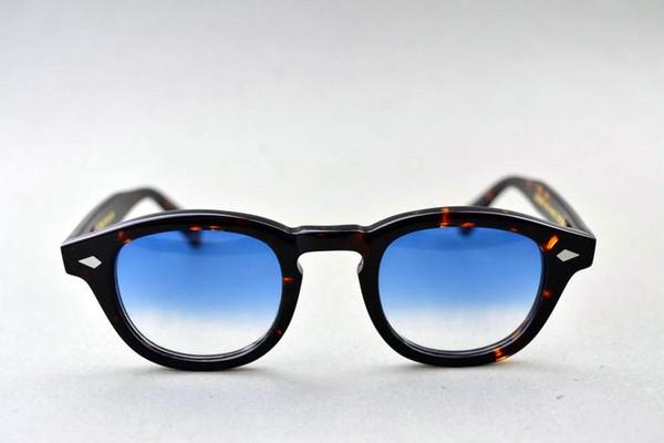 Hotsale Johnny depp Óculos de sol com gradiente colorido vintage UV400 HD lentes prancha importada L M S para óculos acusados caso completo