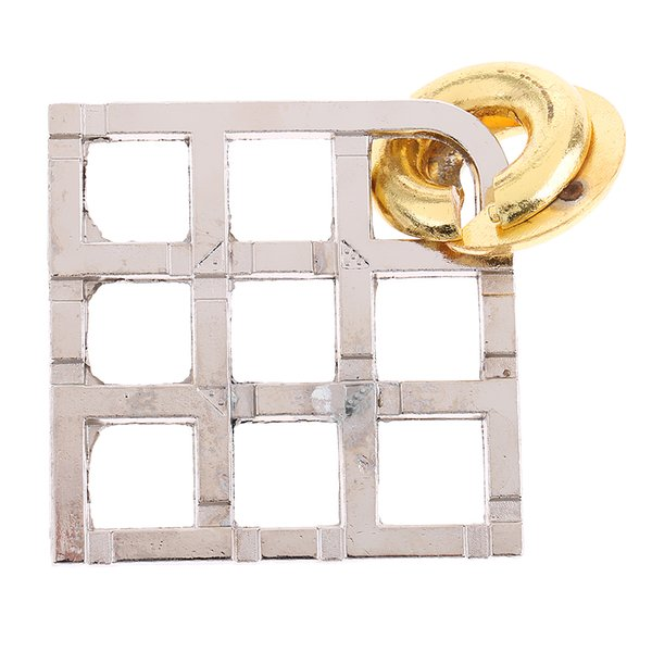 top popular Grid Lock Puzzle Classic Metal Brain Teaser IQ Test Toy for Adults Children 2021