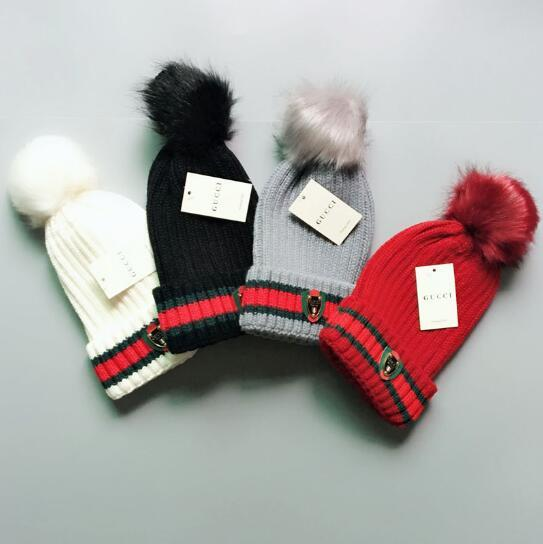9ccf1697c New Design Fashion Winter And Autumn Removable Hair Ball Hat High Quality  Warm Cap Men Women Cap Knitted Wool Hat Elastic Adjustable G11212 Knit Hats  ...