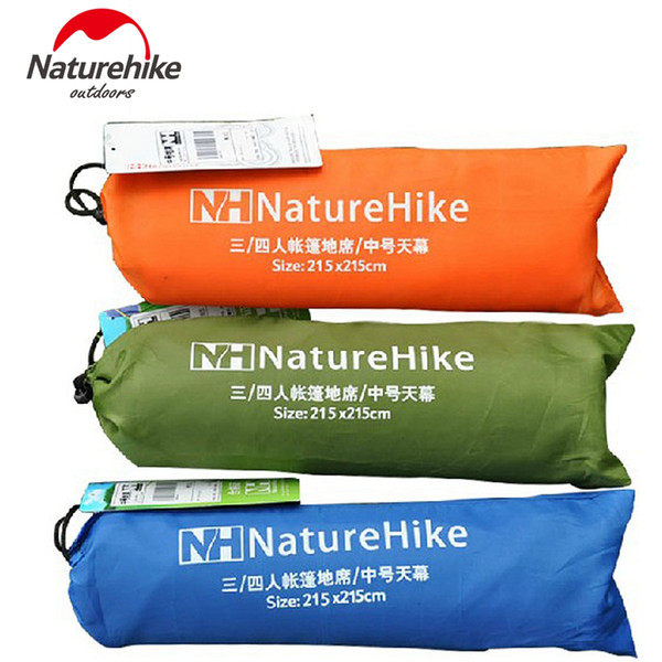 NatureHike 215*215cm Outdoor Tent Mat Awning Floor Camping Mat Silver Coated Tarp Tent Gazebo Sun Shade Beach Shelter