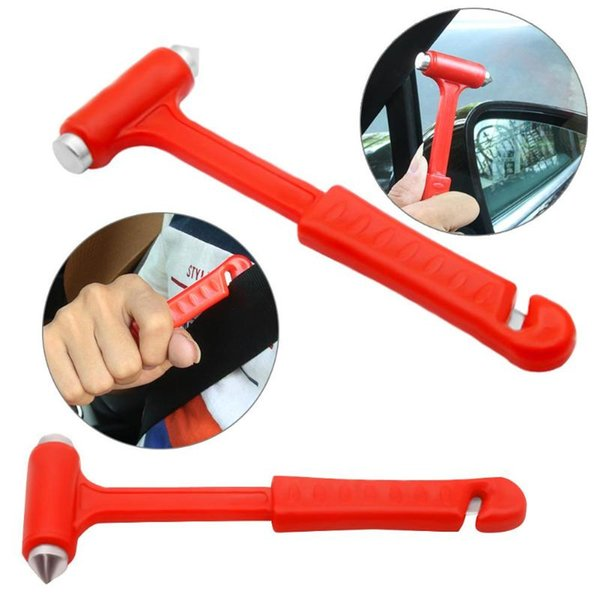 Auto Fastener & Clip VODOOL 2 in 1 Mini Car Safety Hammer Auto Car Window Glass Breaker Life Saving Emergency Hammer Seat