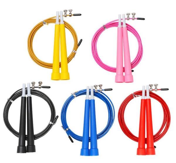 Fio de Aço ajustável Pular Corda de Salto cabo de Pular corda Crossfit Fitnesss Equimpment Exercício Treino 3 Metros