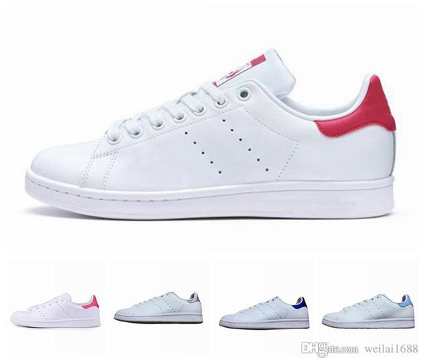 Discount new mens stan smith loafers classic leather breathable College red casual shoes fashion luxury mens women designer sandals shoes