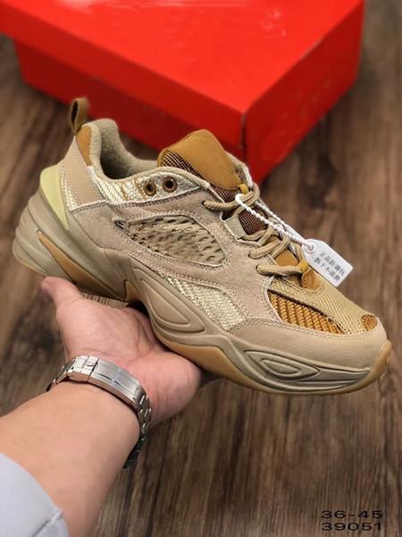 2019 Most popular M2K TEKNO Corduroy Pack Linen Wheat-Ale Brown Men Women High Quality fashion Designer casual Dad Shoe Size EUR 36-45