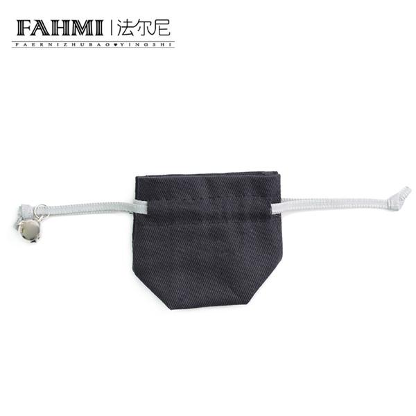 Bolsa de terciopelo de protección de joyería de plata FAHMI A bolsa de embalaje de almacenamiento original Pulsera Anillo Collar Pendientes Bolsa de regalo al por mayor