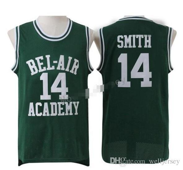 vinking Will Smith #14 The Fresh Prince of Bel Air Academy #25 Carlton Banks Basketball-Trikot