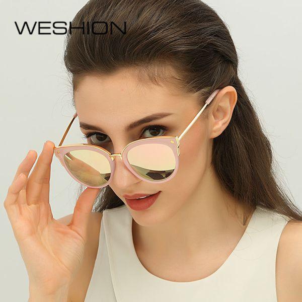 Cat Eye Brand Designer Sunglasses Women Polarized Ladies Cateye Mirror Polaroid Sun Glasses Fashion 2018 Oculos Lunette De Solei C19041001