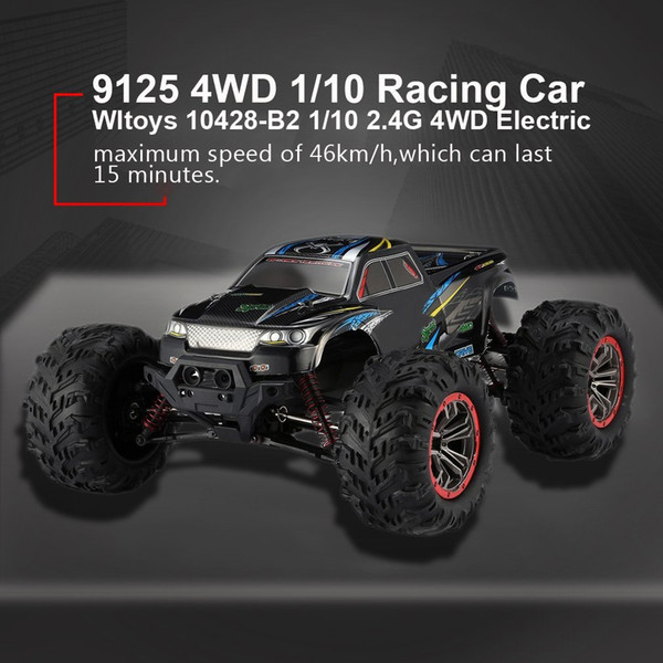 top popular Quality 9125 4WD 1 10 High Speed 46km h Electric Supersonic Truck Off-Road Vehicle Buggy RC Racing Car Electronic Toys RTR MX200414 2020