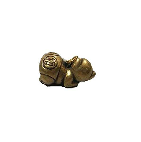 China Sammlung archaize Messing Rich-Schwein kleine Statue