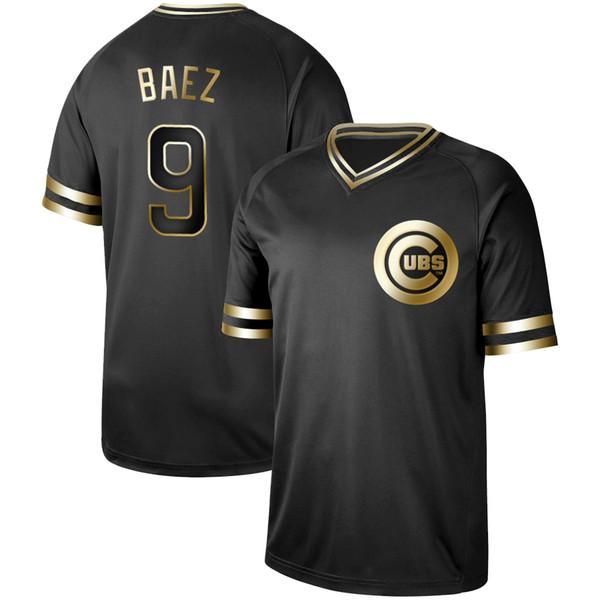 Mens Chicago Black Gold 17 Kris Bryant 9 Javier Baez 44 Anthony Rizzo 12 Kyle Schwarber 40 Willson Contreras Cubs Baseball Jerseys