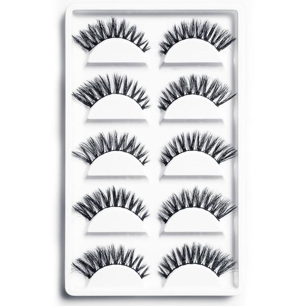 5 Pairs False Eyelashes Natural Long Soft Lashes Makeup for Eyes Handmade Thick Lashes Hot Sale