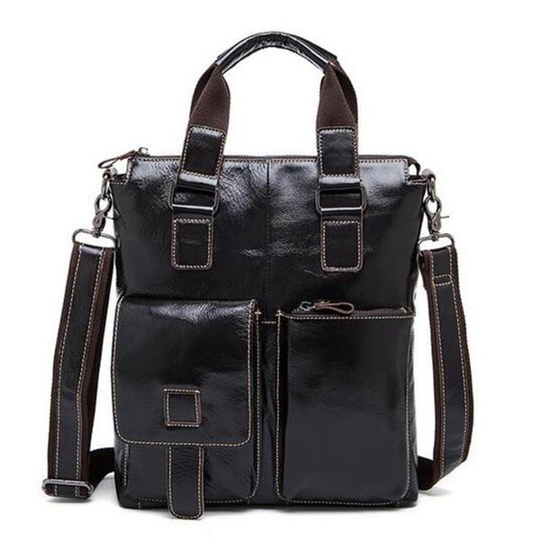 OZUKO Nice New Men Bag Genuine Leather Men Crossbody Shoulder Handbags Mens Briefcase Bags Double Bag Messenger Male