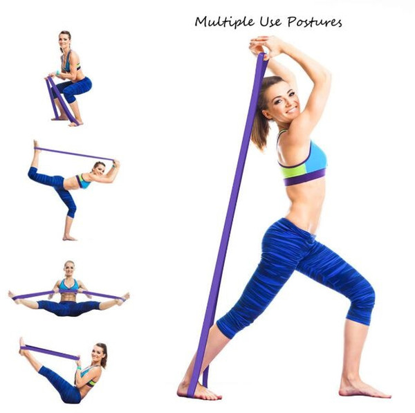 top popular 208cm Strength Resistance Band elastic latex fitness workout bodybuilding bands gym yoga pull up loop 5pcs set exercise belts equipment 2021