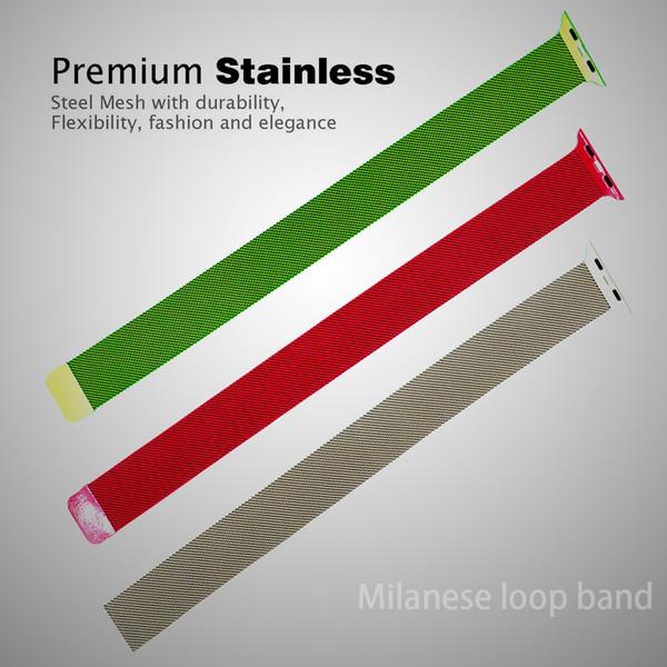 Milanese Loop Band Stainless Steel Watchbands for Apple Watch 38mm 42mm Series 1 2 3 Metal Wristwatch Bracelet