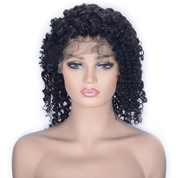 Pizzo frontale Capelli veri Cool Black Wave Nuova tendenza Vendita calda Moda Top Universale Semplice femminile
