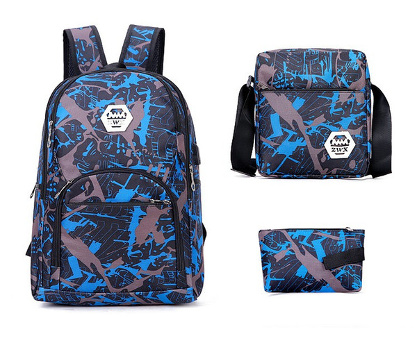 top popular 2022 TOP QUALITY outdoor bags camouflage travel backpack computer bag Oxford Brake chain middle school student bag many colors 2021
