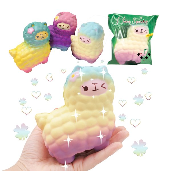 Health Safety Adult Child Stress Reliever Animal Toys Soft Foam Material Cute PU Toy Squishy Sheep
