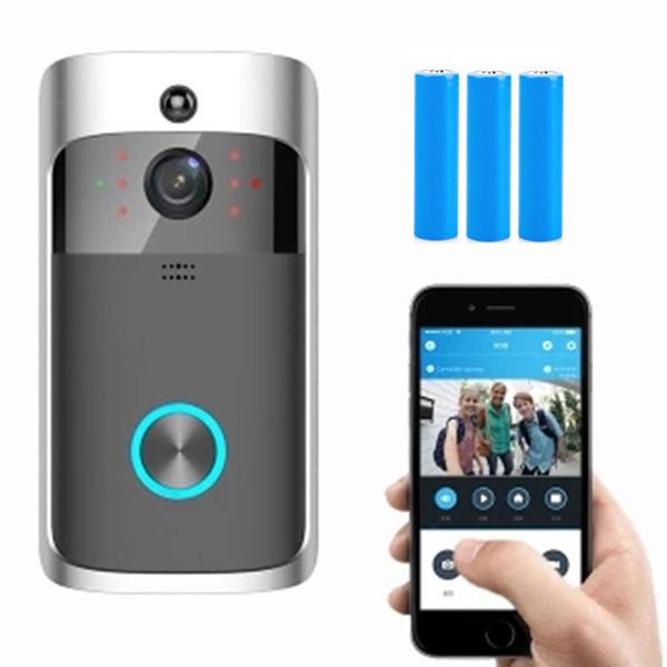 Akıllı IP Video Interkom WI-FI Görüntülü Kapı Telefonu Kapı Zili WIFI Kapı Zili Kamera Daireler Için IR Alarm Kablosuz Güvenlik kamera