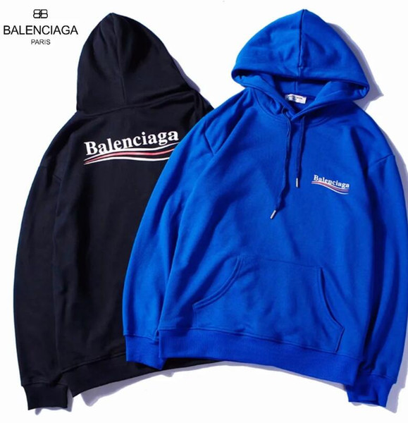 Balanciaga Autumn winter New Fashion Male and female Harajuku lovers colour Alphabet printing Hot sale streetwear hoodie