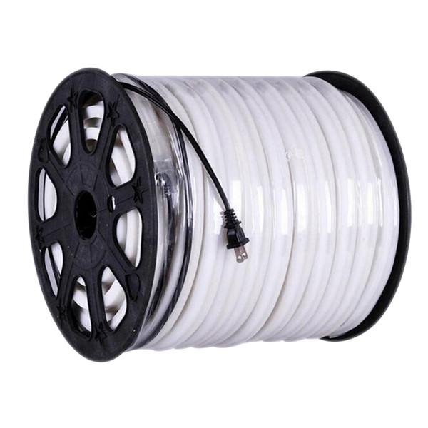 best selling Edison2011 14*26mm LED Neon Flex Soft Neon Light 50m lot 80 Led M Flexible Neon Rope Strip Lights 220V EU Plug