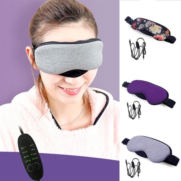 Contrôle de la température de chaleur Masque à vapeur Cotton Eye Pads USB Fatigué Compresser sec Eye Care 5 couleurs MMA2651-4