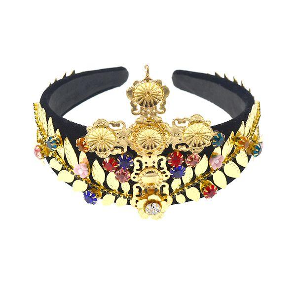 Elegant Baroque Retro Goddess Women Olive Leaf & Big cross Headband Headdress Hair Band Crown Bridal Wedding Leaves Tiara Hair Accessories