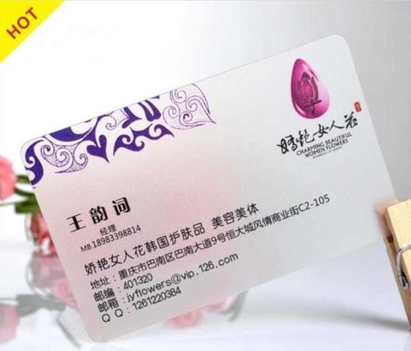 Großhandel Hochwertige Transparente Visitenkarten Fabrik Transparente Plastikvisitenkarte Mit Farbenreichem Von Hellen8599 160 81 Auf