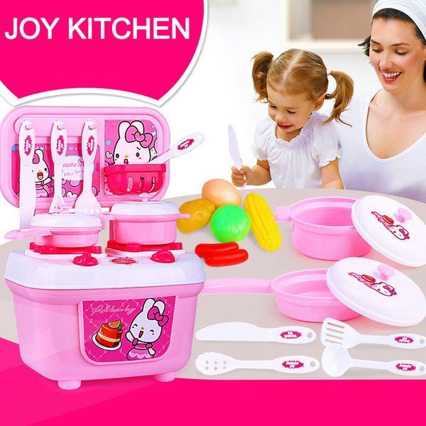 Childrens Mini cuisine four jeu de rôle semblant jouet avec de la nourriture et ustensiles