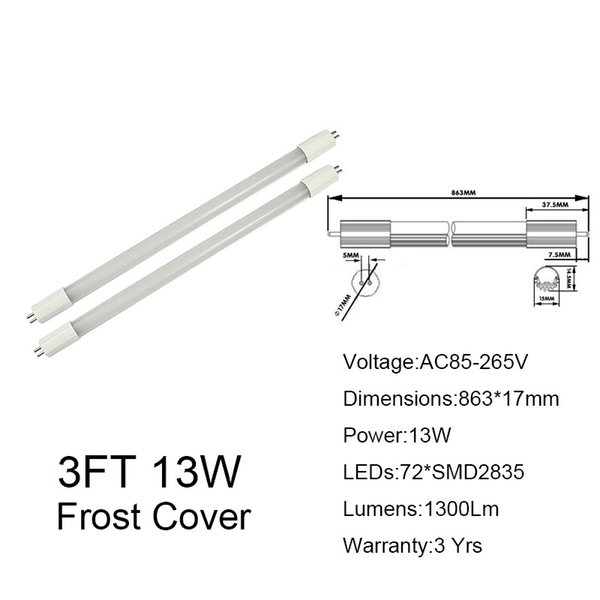 3FT 13W Frosted Cover