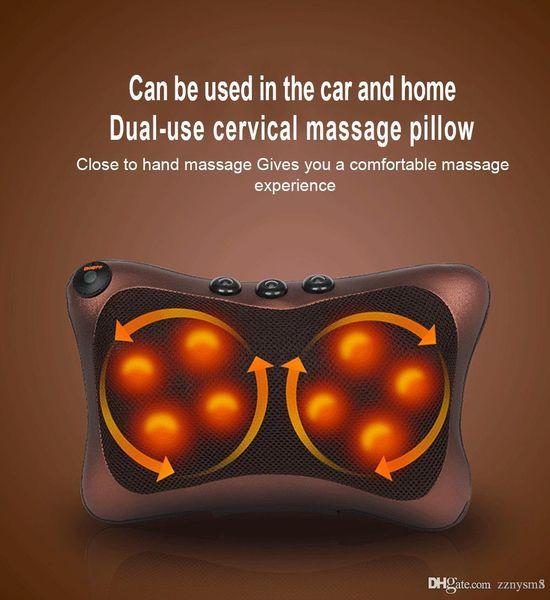 Cou masseur voiture maison massage cervical shiatsu cou dos taille corps électrique multifonctionnel massage coussin oreiller ujibg