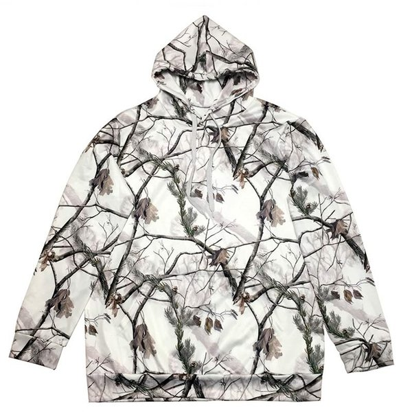 Unisex Camouflage Pullover Hoodies Male Snow Camo Hoody Sweater Shirts Hoodie Fishing Clothing Camping Hunting Shirt