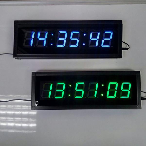 2.3 Pouce Grand Affichage À Distance 3D LED Horloge Murale Numérique Moderne Bureau Hall Couloir Maison Salon Décoration Compte À rebours Horloges Minuterie Examens