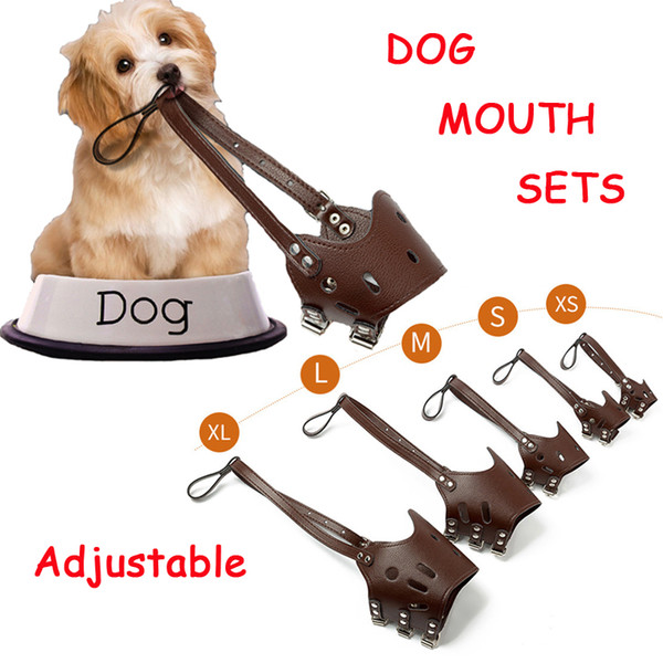 Pet Dog Mouth Set Adjustable Breathable Safety Small Medium Large Extra Dog Muzzles for Anti-Biting Anti-Barking Anti-Chewing Safety Protect