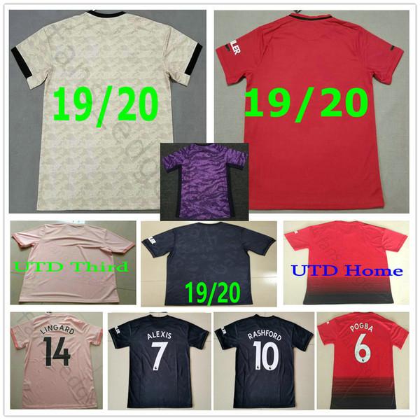2019 2020 Манчестер Lingard футбол Джерси Pogba США 10 RASHFORD 9 БОЕВЫХ заказ Главная Вдали Человек Женщина Дети Молодежь 19 20 Футбол Рубашка