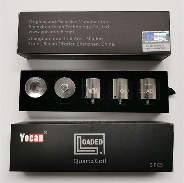 Paquet Yocan Evolve plus xl Pandon Evolve Evolve-D Bobine Têtes de noyaux en céramique pour beignets CDDC CDC Yocan Loaded QUAD
