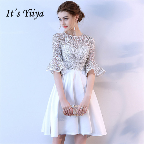e24ed9b355e49 It'S YiiYa Short Sleeve Cocktail Dresses 2018 Fashion Designer Flower  Pattern High Quality Knee Length Party Dress Sexy Classy Dresses Sexy  Cocktail ...