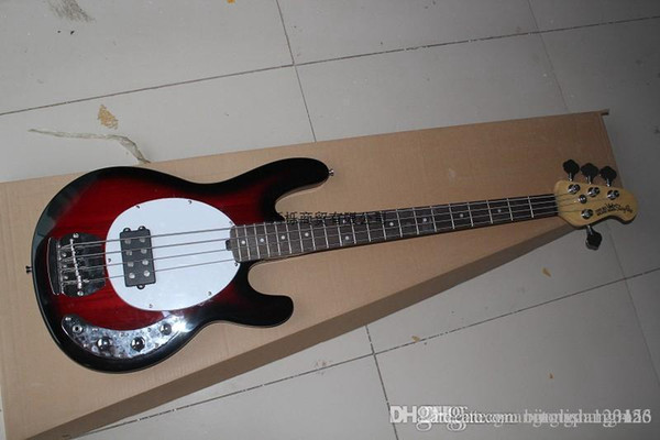 Free shipping Top qulity New style 4 strings Natural wood RED OIP electric bass guitar lowest price best quality